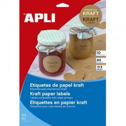 Принтерни крафт етикети А4 APLI