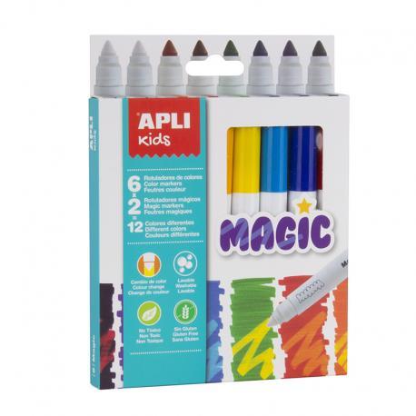 APLI 16808 Магически флумастри 12 цвята, 8 броя