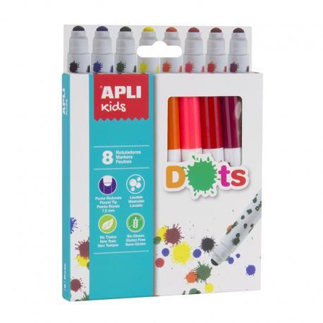 APLI 16805 Магически флумастри за точки, 8 цвята