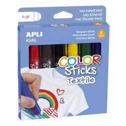 APLI 17539 Пастели за текстил, 6 цвята