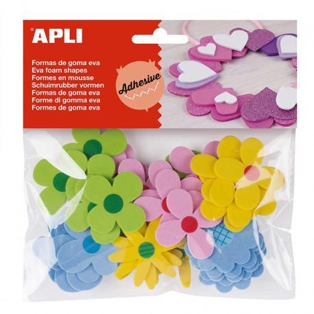 APLI 15140 Самозалепващи пъстри цветя от EVA