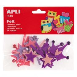 APLI 13786 Коронки от филц, 12 броя