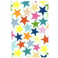 Декупажна хартия Големи цветни звезди, 3 листа