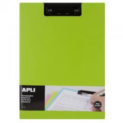 APLI 17207 Клипборд с капак за А4, Зелен, ПВЦ