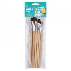 APLI Комплект Дървени четки за рисуване