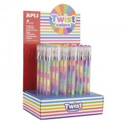 APLI 17498 Цветна гел химикалка 6 цвята,1 брой