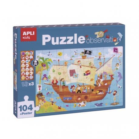 Пъзел - игра за наблюдения Пирати
