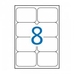 APLI 15087 Бели водоустойчиви полиестерни етикети за лазерни принтери и копирни машини