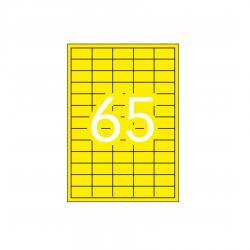 APLI 15074 Флуоресцентно жълти самозалепващи етикети 38,1х21,2мм за лазерен принтер