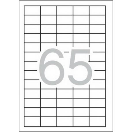 Multi 3-04716 Бели самозалепващи етикети