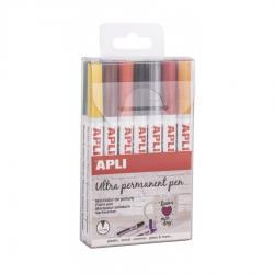 Ултра перманентен маркер за всякакви повърхности, 14 цвята в комплект