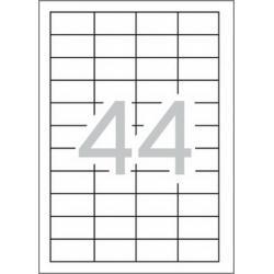 Multi 3-04717 Бели самозалепващи етикети