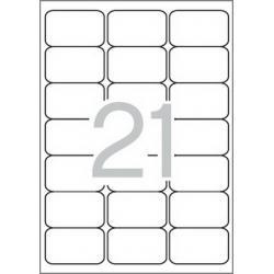 Multi 3-04726 Бели самозалепващи етикети