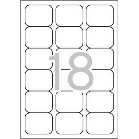 Multi 3-10492 Бели самозалепващи етикети