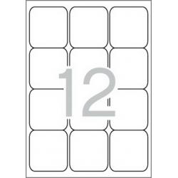 Multi 3-10493 Бели самозалепващи етикети