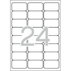 Multi 3-10494 Бели самозалепващи етикети
