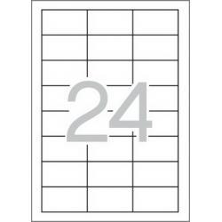 Multi 3-04701 Бели самозалепващи етикети