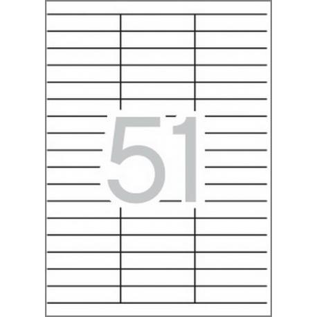 Multi 3-04720 Бели самозалепващи етикети