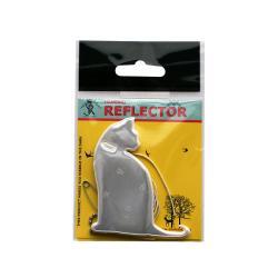 Светлоотразител за закачване - Бяла котка