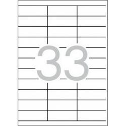 Multi 3 - 04702 Бели самозалепващи етикети