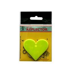 Светлоотразител за закачване - Жълто сърце