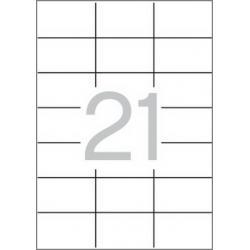 Multi 3 - 04705 Бели самозалепващи етикети