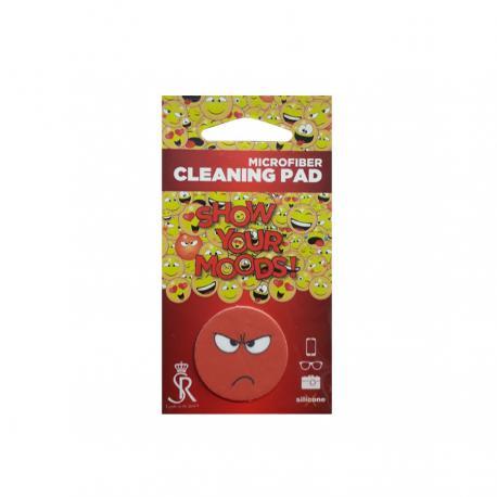 Почистващ микрофибърен стикер за телефон - Емоджи Ядосан