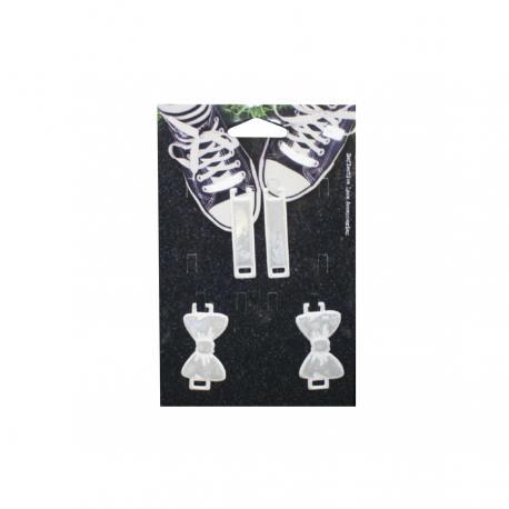 Комплект аксесоари за обувки - Бели панделки