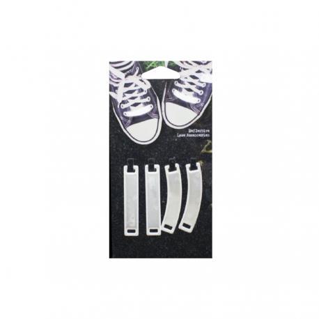 Комплект аксесоари за обувки - Бяла дъга