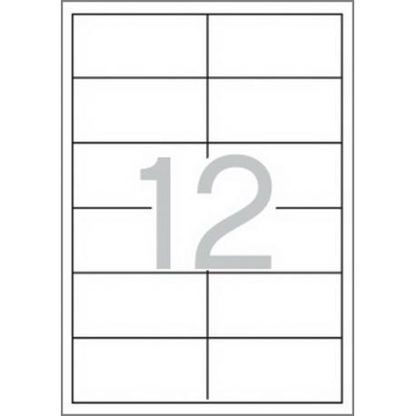 Multi 3 - 04706 Бели самозалепващи етикети