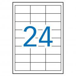 APLI 12966 Бели водоустойчиви полиестерни етикети за лазерни принтери и копирни машини