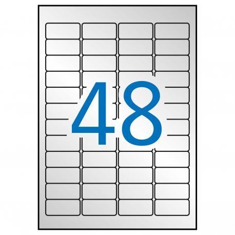 APLI 12973 Сребристи, метализирани, водоустойчиви, полиестерни етикети