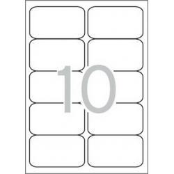 Multi 3 - 10499 Бели самозалепващи етикети