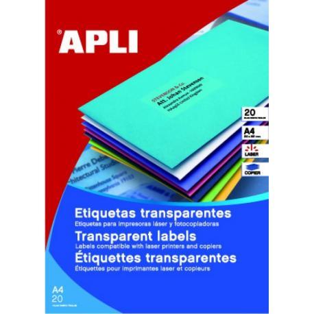 APLI 01224 водоустойчиви полиестерни етикети, матово прозрачни, за лазерни принтери и копирни машини