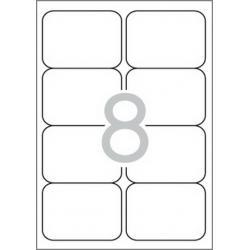 Multi 3 - 04729 Бели самозалепващи етикети