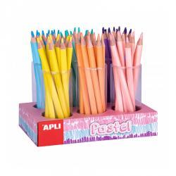 APLI 18052 Макси цветни моливи в пастелени цветове