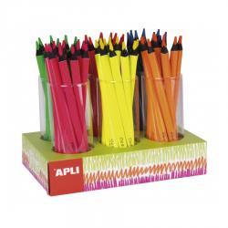 APLI 17502 Цветни Джъмбо моливи, с ергономична триъгълна форма