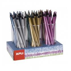 APLI 17503 Цветни джъмбо моливи металик