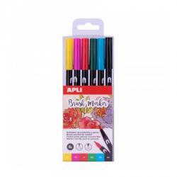 APLI 18062 Двувърх маркер - комплект от 6 цвята