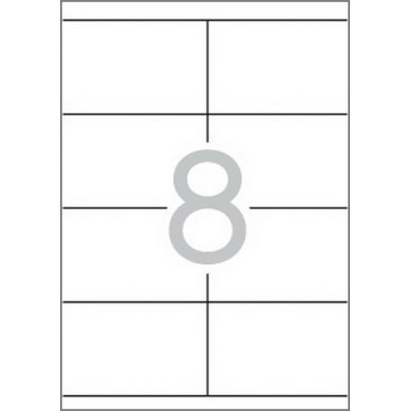 Multi 3 - 04725 Бели самозалепващи етикети