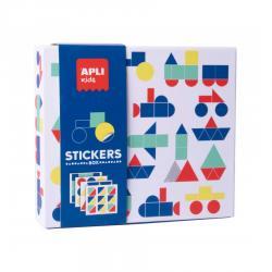 APLI 18359 Стикерна игра с геометрични фигури Транспорт