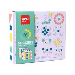 APLI 18361 Стикерна игра с геометрични фигури Животни