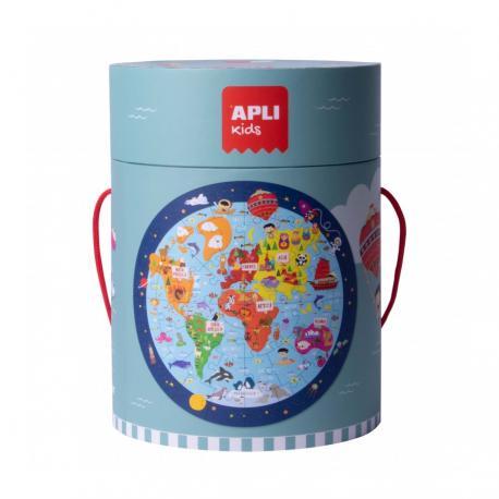 Кръгъл пъзел Карта на света, 48 елемента