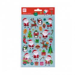 APLI 18550 Обемни стикери Дядо Коледа, 25х14см