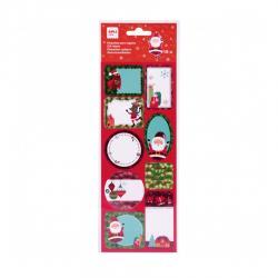APLI 18554 Коледни етикети Дядо Коледа