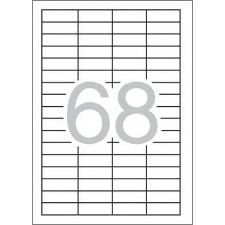 Multi 3-10490 Бели самозалепващи етикети