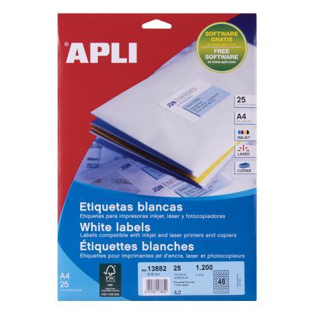 APLI 13882 бели принтерни етикети