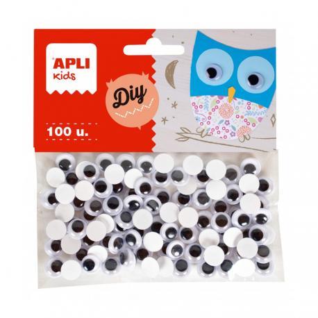 Очички за апликация и декорация, цветни, самозалепващи 100 броя, ø 10 mm