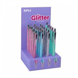 APLI 18686 Многоцветна, блестяща химикалка Glitter Collection
