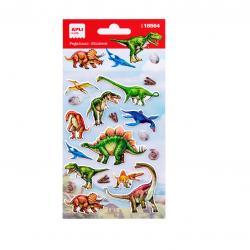 APLI 18564 Самозалепващи стикери за декорация - Динозаври-реалистични
